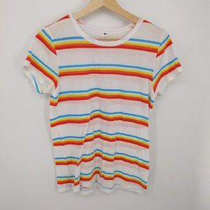 3 for $15 BP Rainbow Stripe Raw Edge T-Shirt SS